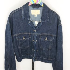 Anthro Pilcro and The Letterpress Denim Jacket NWT
